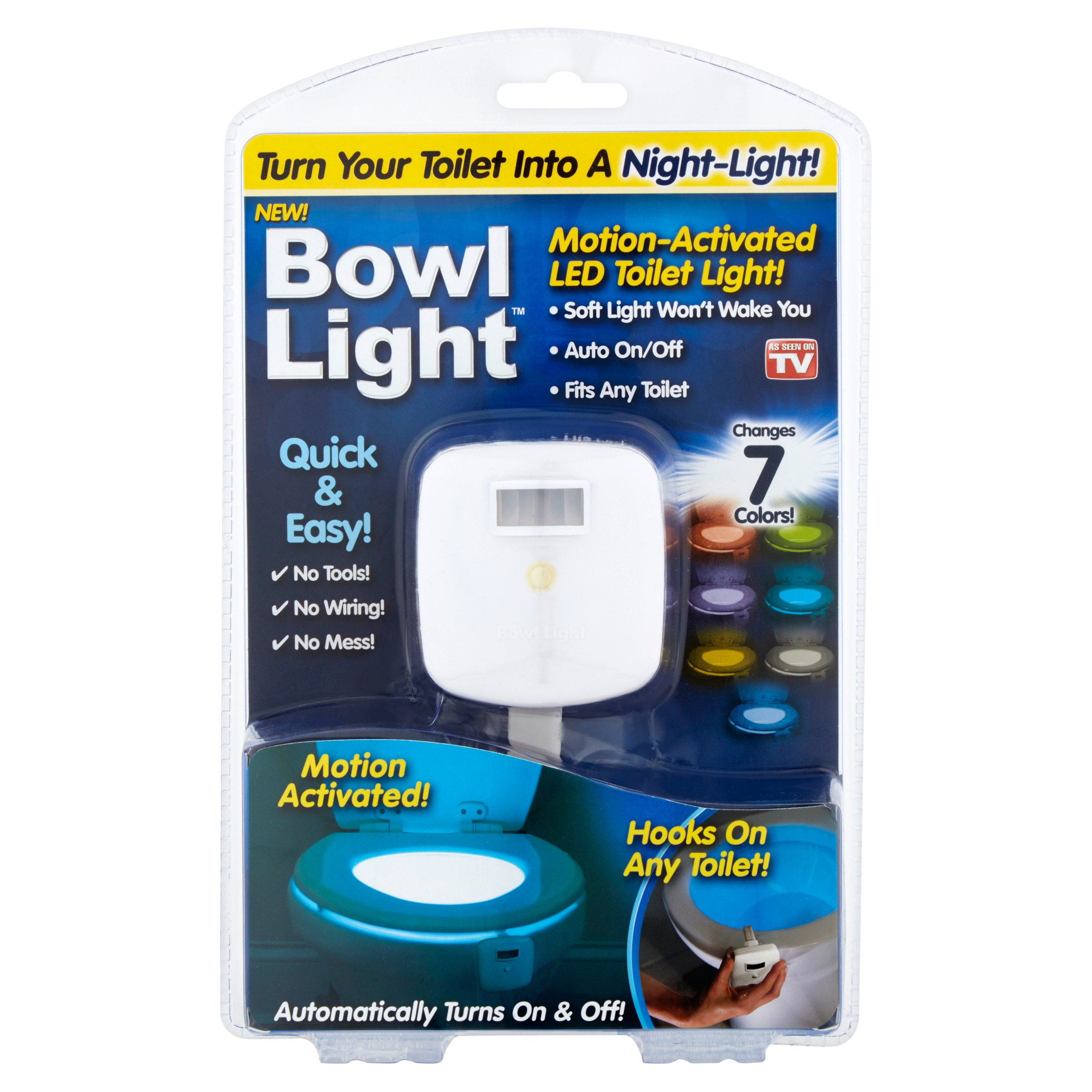 As Seen on TV Bowl Light Motion-Activated LED Toilet Light, 1 Each