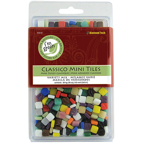 "Classico Mini Tile Mix, 5/16"", 16oz, Assorted Colors"