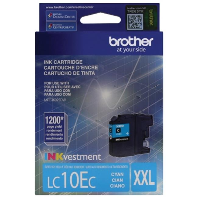 Brother International LC10EC Innobella Super High-Yield Ink, Cyan