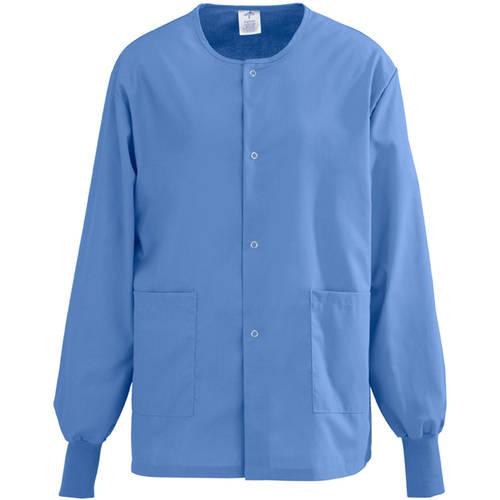 Medline Angelstat Unisex Snap Front Warm Up Scrub Jacket