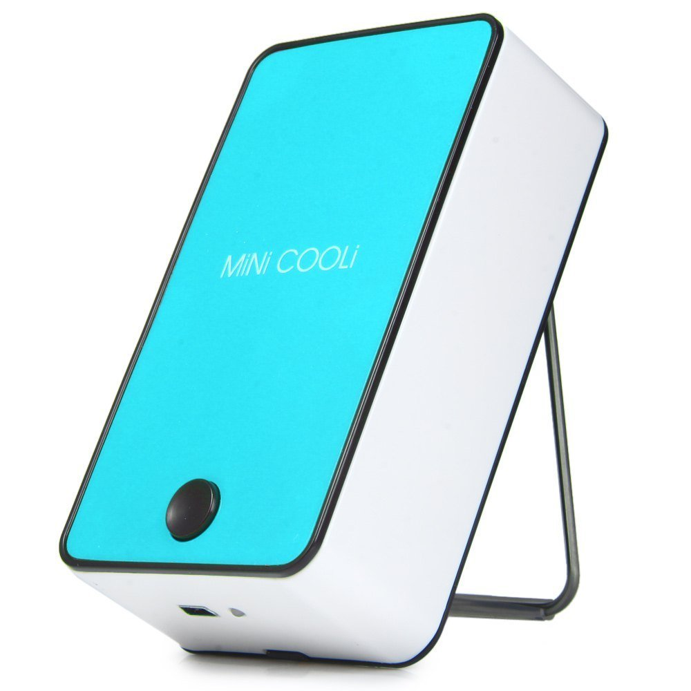 Monogram Mini Cooli Cool air flow Fan with cold water evaporation Blue