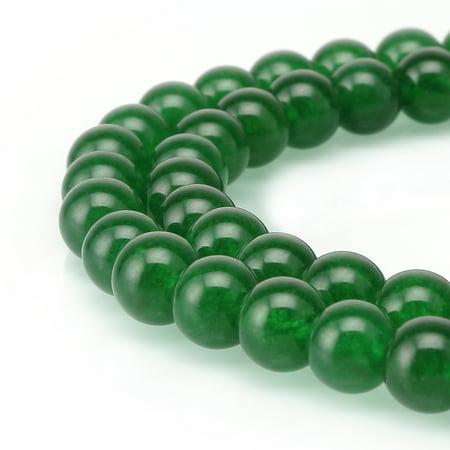 BRCbeads Jade Gemstone Natural Round 10mm Beads for Jewelry Making