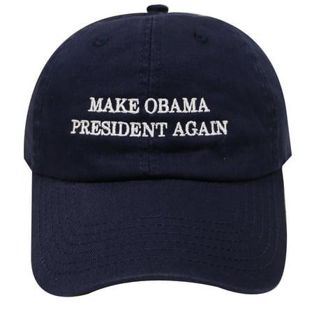 C104 Unisex Make Obama President Again Cotton Baseball Cap Navy
