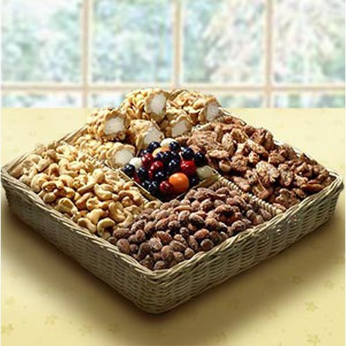 Sweet & Savory Assorted Nut and Snack Basket