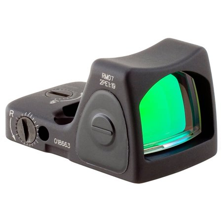 Trijicon Adjustable Ruggedized Miniature Reflex, Red Dot, Black, 6.5 (Trijicon Ruggedized Miniature Reflex Low Picatinny Rail Mount)