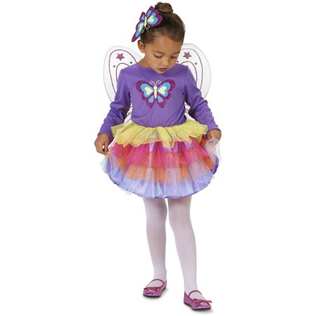 Neon Purple Butterfly Toddler Halloween Costume, Size 3T-4T](Purple Butterfly Halloween Costume Toddler)