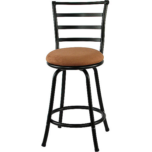 Mainstays Metal Swivel Counter Stool 24'', Set of 2, Black