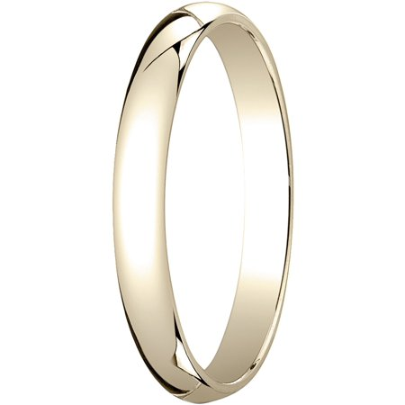 Womens 18K Yellow Gold, 3.0mm Traditional Dome Oval Wedding Band (Traditional Womens Wedding Band)