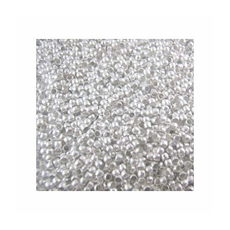 800 Crimp, Loose Beads, - 3mm Shiny Silver Plated Lead Free Alloy, Loose Beads, ()