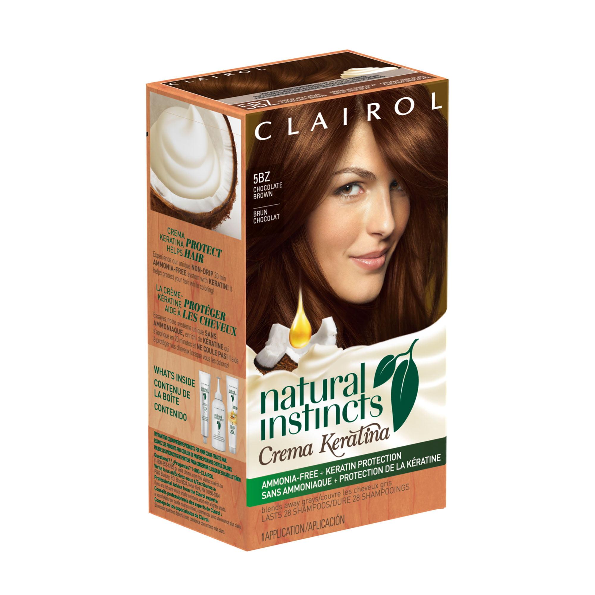 Clairol Natural Instincts Crema Keratina Hair Color 5bz Chocolate