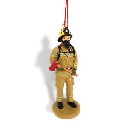 Fire Fighter Uniform Resin Stone Christmas Ornament Palm Resin Ornament