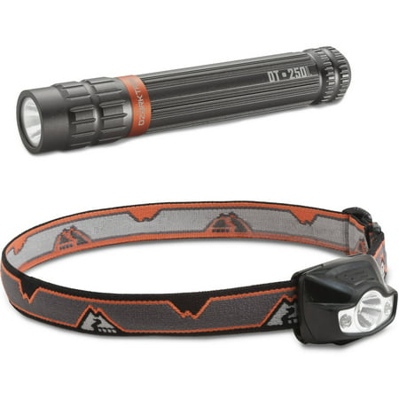 Buy Ozark Trail 150-Lumen Headlamp and 250-Lumen Flashlight Combo Pack, Multiple Colors