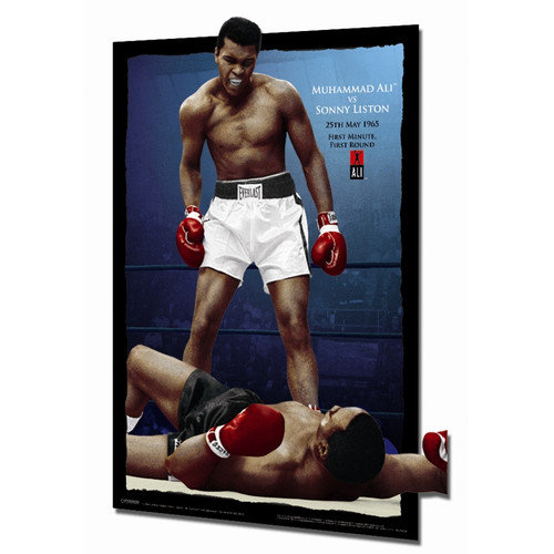 Pyramid America PPL70079F Muhammad Ali vs Liston - Color Poster