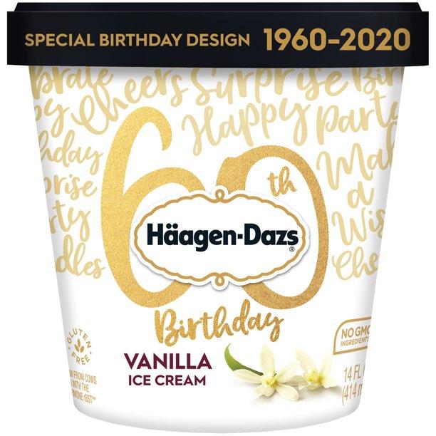 HAAGEN-DAZS Ice Cream, Vanilla, 14 fl. oz. Cup | No GMO ...
