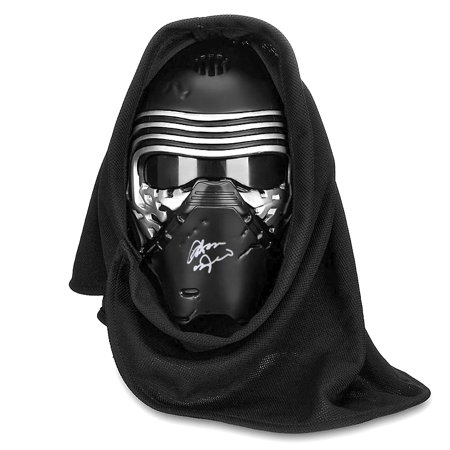 Adam Driver Autographed Star Wars: The Force Awakens Kylo Ren Voice Changing Mask](Celebrity Mask)