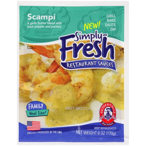 Southern Belle Simply Fresh Seafood Scampi Restaurant Sauce, 6 fl oz