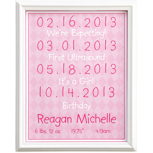 "Personalized Baby Milestone 11"" x 14"" Print"