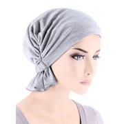 Turban Plus The Abbey Cap ® Womens Chemo Hat Beanie Scarf Turban for Cancer Cotton Heather Gray