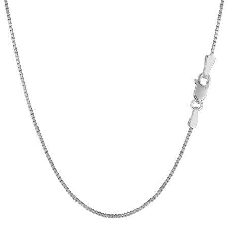"Sterling Silver Rhodium Plated Box Chain Necklace, 1.1mm, 16"" - image 1 de 1"