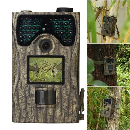 12MP 1080P HD IP56 Waterproof Hunting Trail Camera 2.0 TFT LCD Video Recorder Wildlife Night Vision PIR Digital Scouting Trail Camera Kit