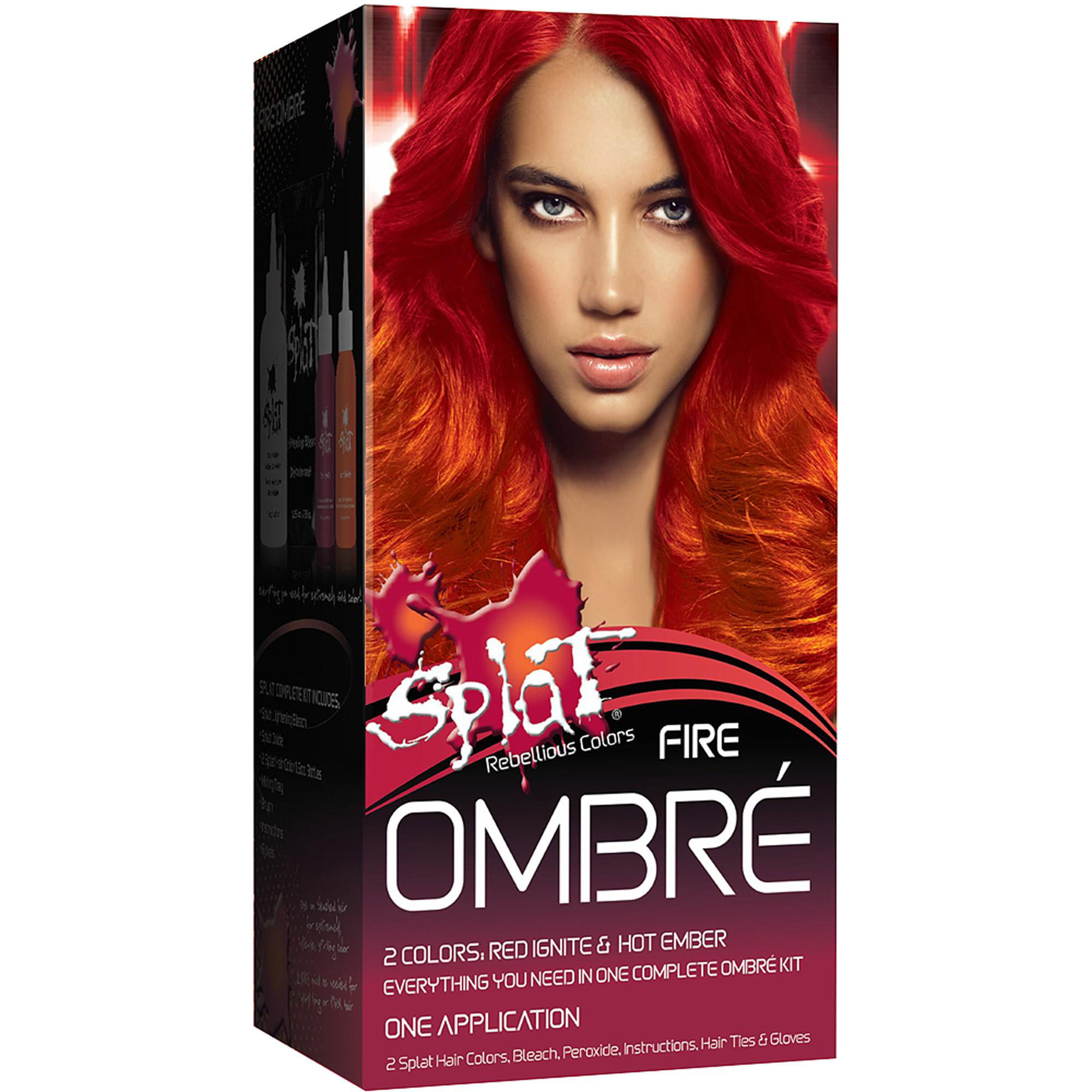 Splat 30 Wash Semi Permanent Hair Dye Kit Fire Ombre Walmart Com
