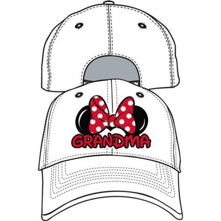 Disney Adult Hat Grandma Fan White
