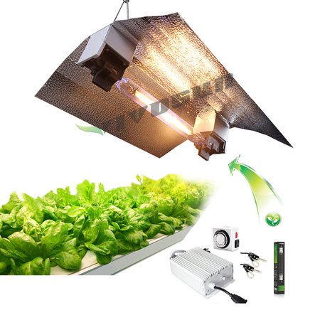 VIVOSUN 1000w Watt Double Ended Grow Light System HPS MH Ballast Reflector Kit for (Best Air Cooled Reflector For 1000w)