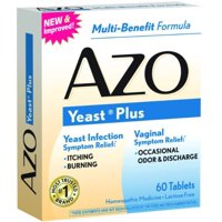 AZO Yeast Plus Tablets 60 ea (Pack of 3)