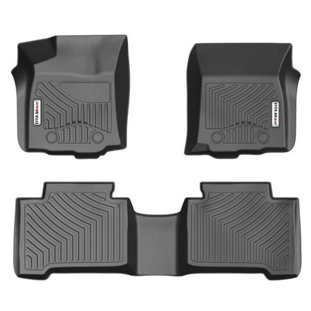 Cab 2nd Row Mats (Floor Mats for 2016-2017 Toyota Tacoma Double Cab with Automatic Transmission, 1st & 2nd Row Toyota Floor Liners (NO Manual Transmission, No Access)