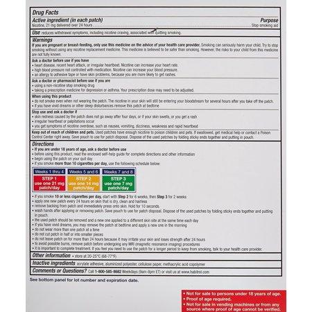 Habitrol Nicotine Transdermal System Stop Smoking Aid, Step 1 (21 mg), 7 (The Best Patch To Stop Smoking)