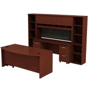 """Bush Business Series C 72"""" Desk with Credenza in Natural Cherry"""