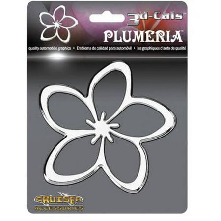 Cruiser Accessories 3D-Cals Plumeria, Chrome Cruiser Chrome Mirror Covers