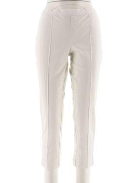 Isaac Mizrahi 24/7 Stretch Ankle Pants Pintuck A289790