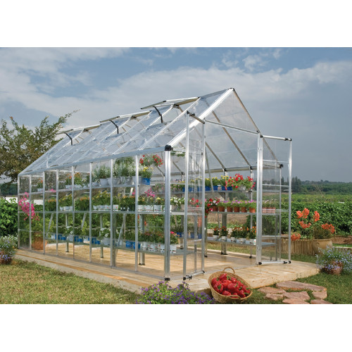 Palram Snap and Grow 8 Ft. W x 16 Ft. D Polycarbonate Greenhouse by Poly-Tex