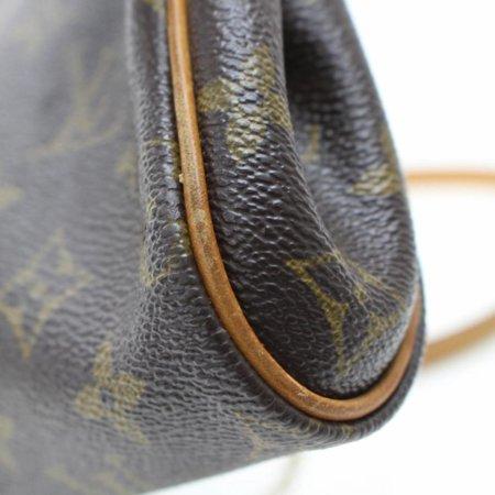 1368b400bebf Soffi Eva Monogram 2way 868633 Brown Coated Canvas Cross Body Bag -  Walmart.com