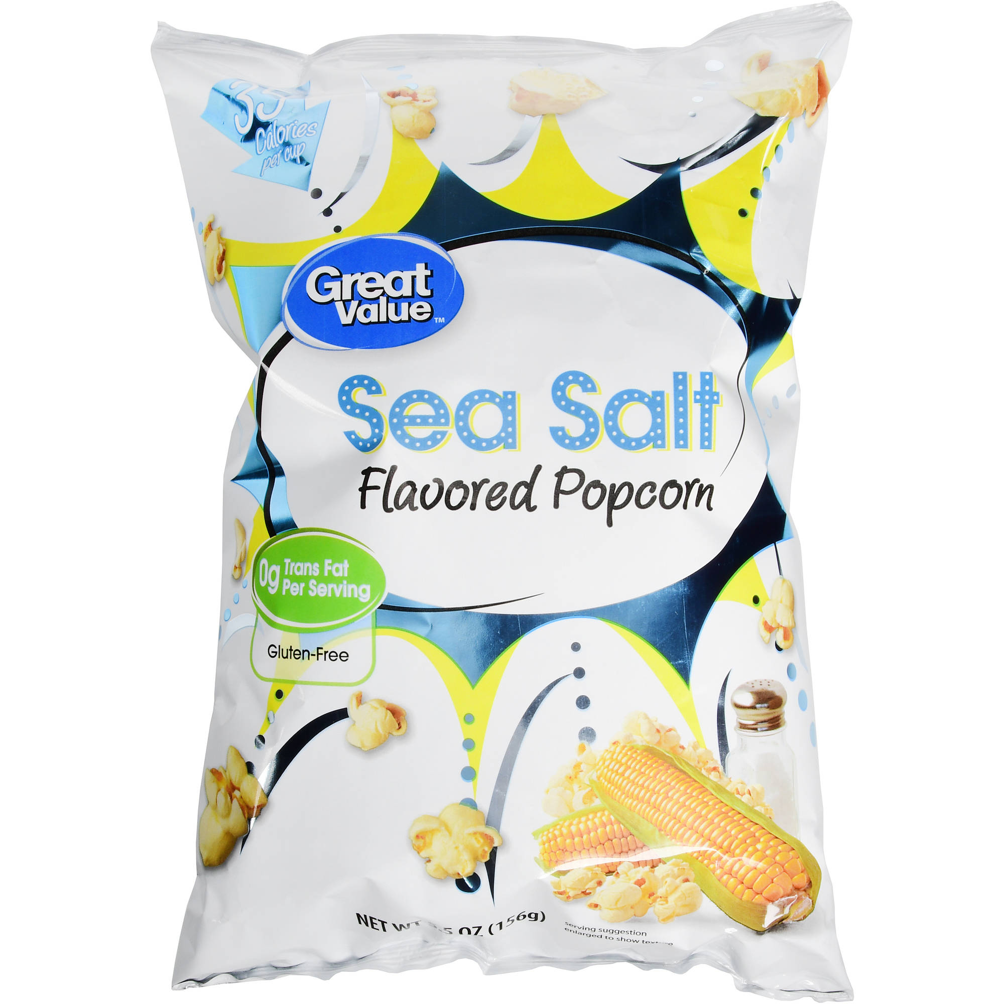 Great Value Sea Salt Flavored Popcorn, 5.5 oz by WAL-MART STORES INC