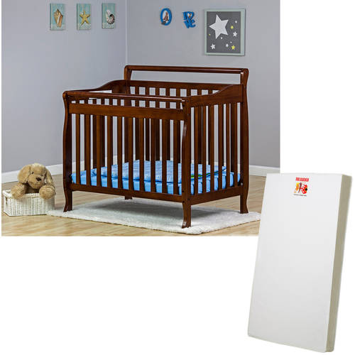 Dream on Me Mini or Portable Crib (Choose Your Style and Finish) with BONUS Mattress