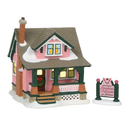 Dept 56 A Christmas Story Village 6001185 Aunt Clara's House (Christmas Town Village)