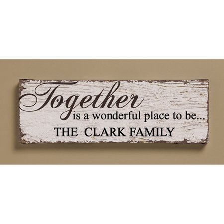 Personalized Together Is A Wonderful Place Canvas 6 X 18
