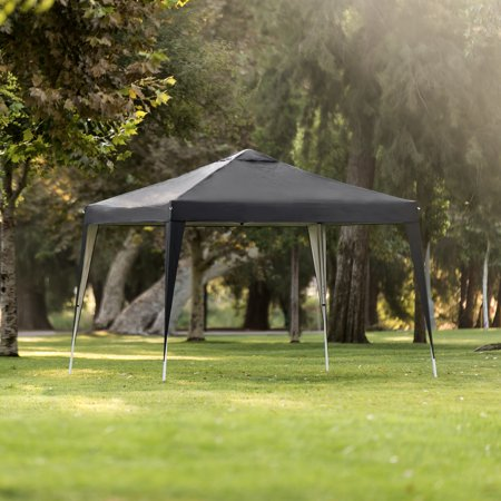 Best Choice Products 10x10ft Outdoor Portable Lightweight Folding Instant Pop Up Gazebo Canopy Shade Tent w/ Adjustable Height, Wind Vent, Carrying Bag - Black ()