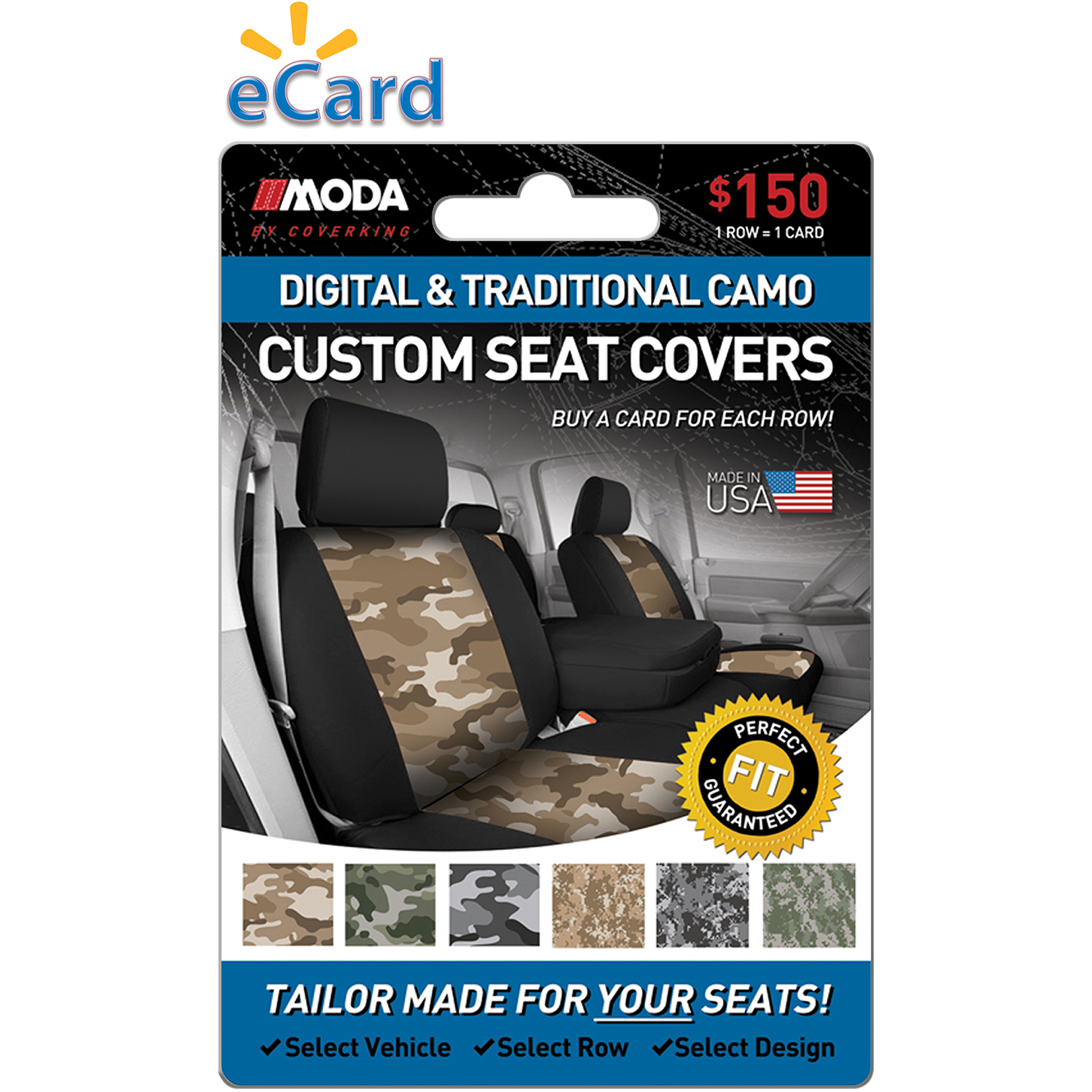 MODA by Coverking Designer Custom Seat Covers Camo $150 (Email Delivery)