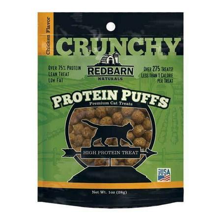 Protein Puff Healthy Cat Treat Snacks Choose Chicken Salmon or Turkey Flavor (Chicken)