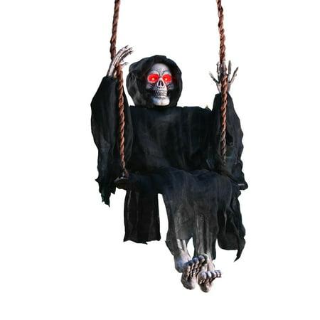 Light-Up Swinging Dead Reaper Prop 36in
