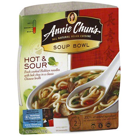 Annie Chun's Soup Bowl Hot & Sour,6 Pack