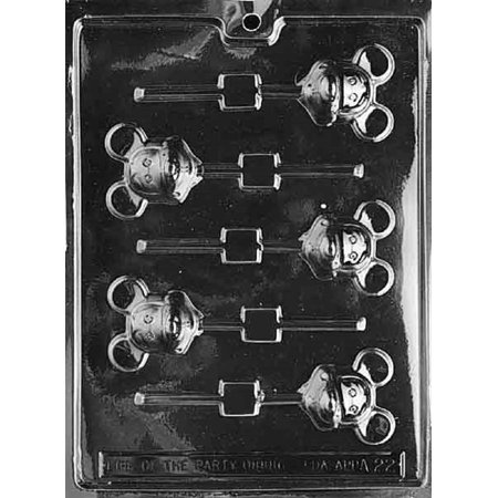- Grandmama's Goodies A022 Mickey the Mouse Lollipop Chocolate Candy Soap Mold with Exclusive Molding Instructions