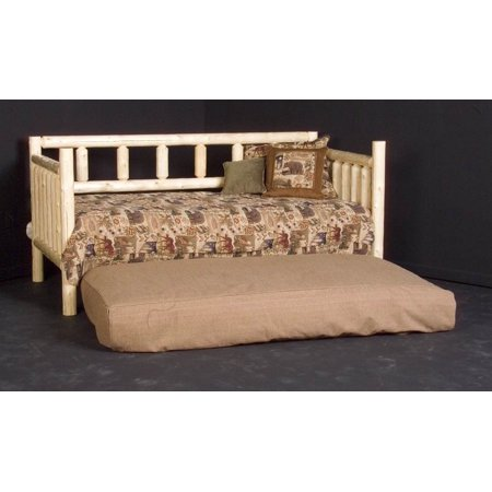 Rustic Log Day Bed W Trundle Clear Walmart Com