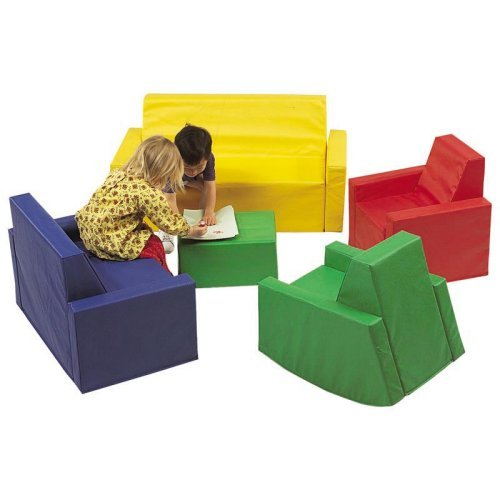 Children's Factory 5 Piece Family Room Seating Set