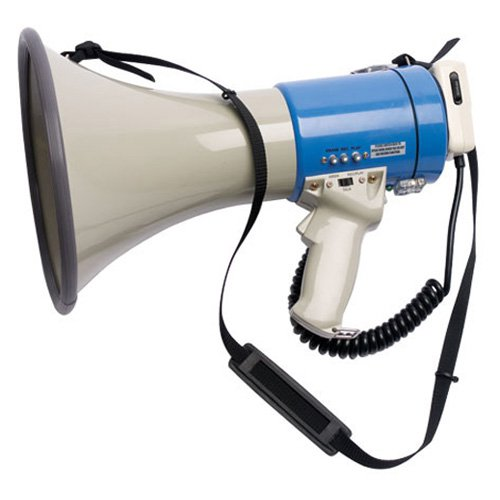 BSN Sports 800 Yard Range Voice Recording Megaphone by Athletic Connection