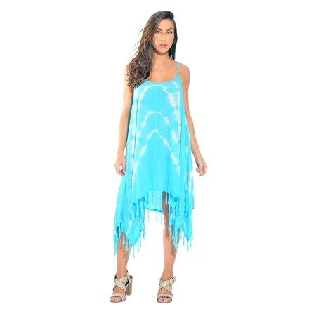 20e88ef60e6 Riviera Sun - Riviera Sun Fringe Dress   Summer Dresses (Turquoise   White