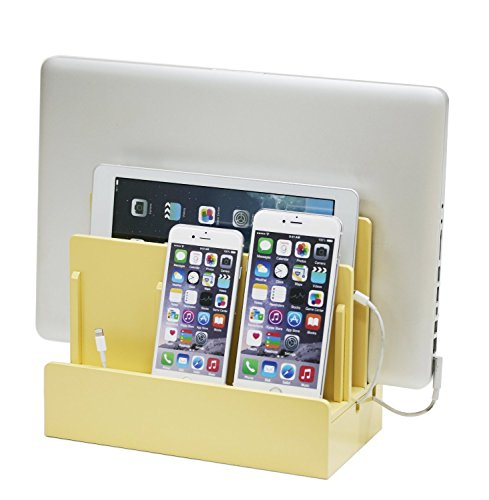High Gloss Cherry Multi-Device Charging Station and Dock